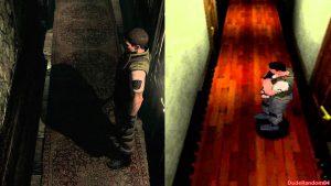 comparaison graphique resident evil 1 playstation et resident evil hd gamecube