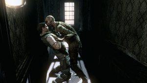 scene premier zombi dans resident evil hd sur game cube