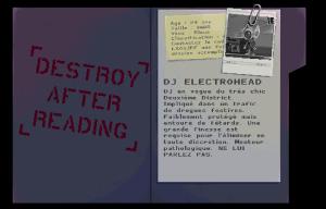 Le dossier de la première cible le dj electrohead de katana zero