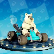 petit ours blanc de crash team racing sur PS4