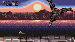 boss du level 2 de blazing chrome steam