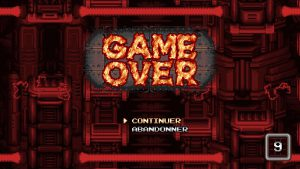 ecran game over blazing chrome ps4