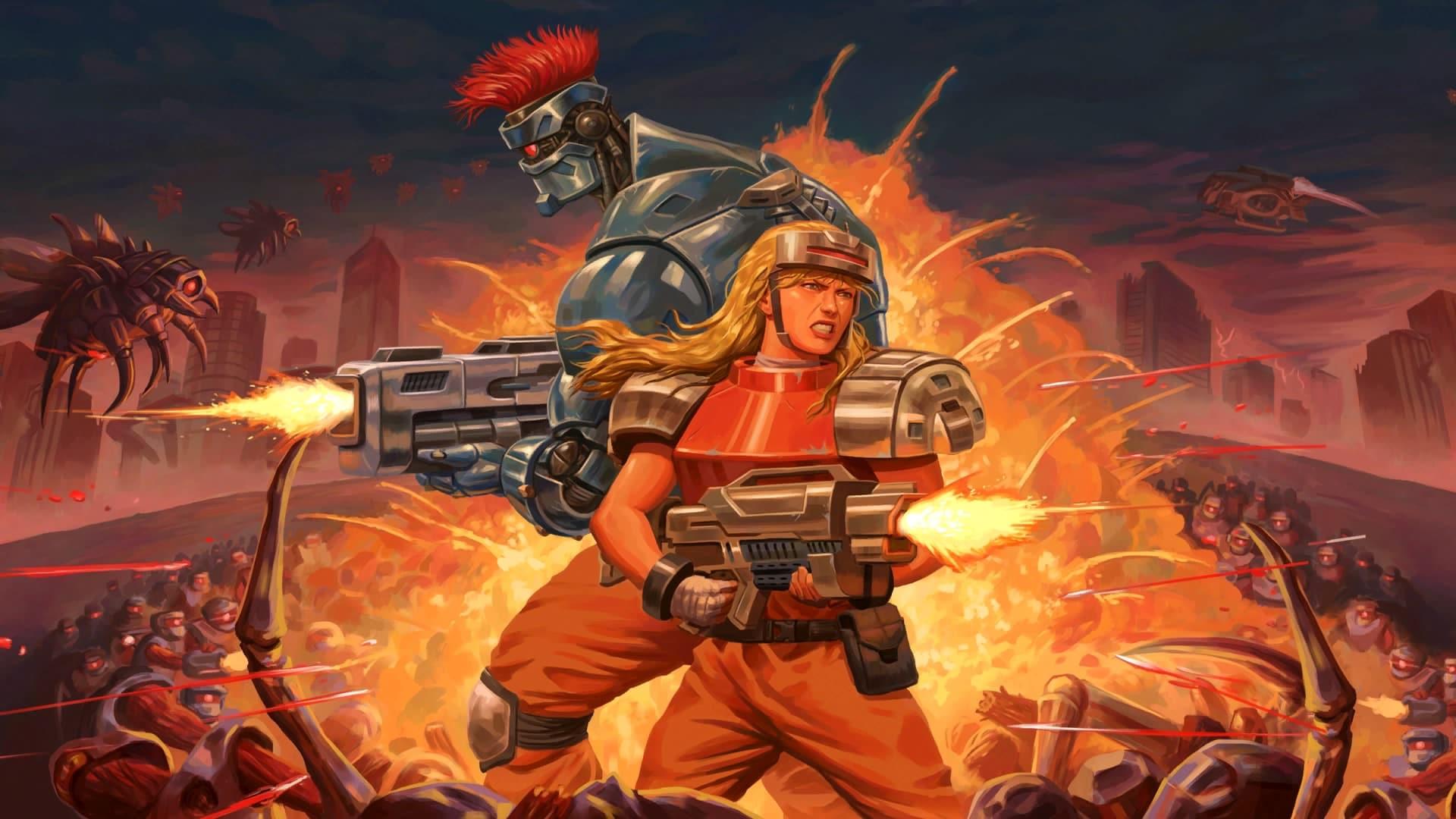 personnages de base du jeu blazing chrome