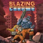 logo du jeu video retro blazing chrome de arcade crew