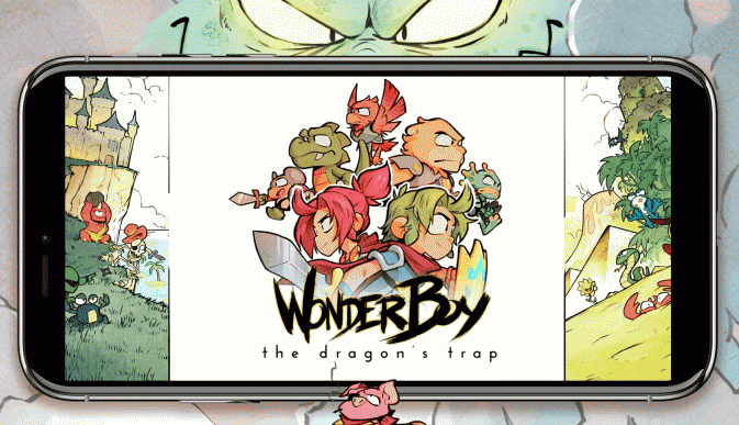 wonder boy the dragon trap sur mobile android