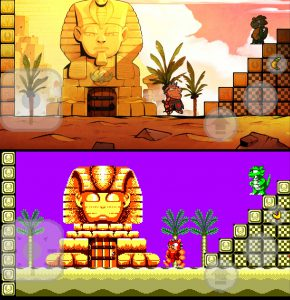 comparaison wonder boy 3 retro et remake