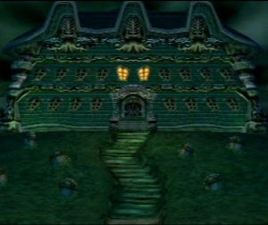 le manoir de luigis mansion sur Gamecube