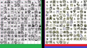 comparatif design pokémons version japon et europeenne