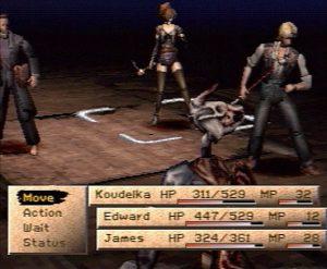 scene de combat dans koudelka sur PS1