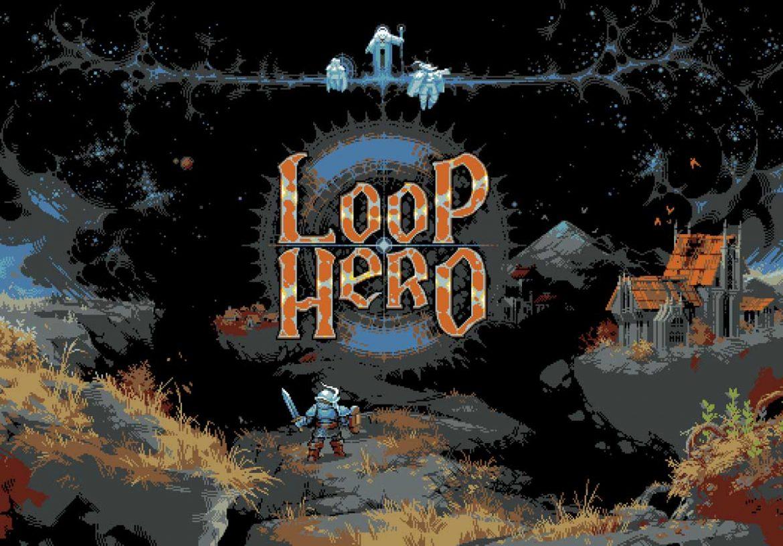 logo et personnage du jeu vidéo loop hero de devolver