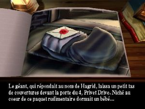 phase narrative dans le jeu harry potter sur playstation