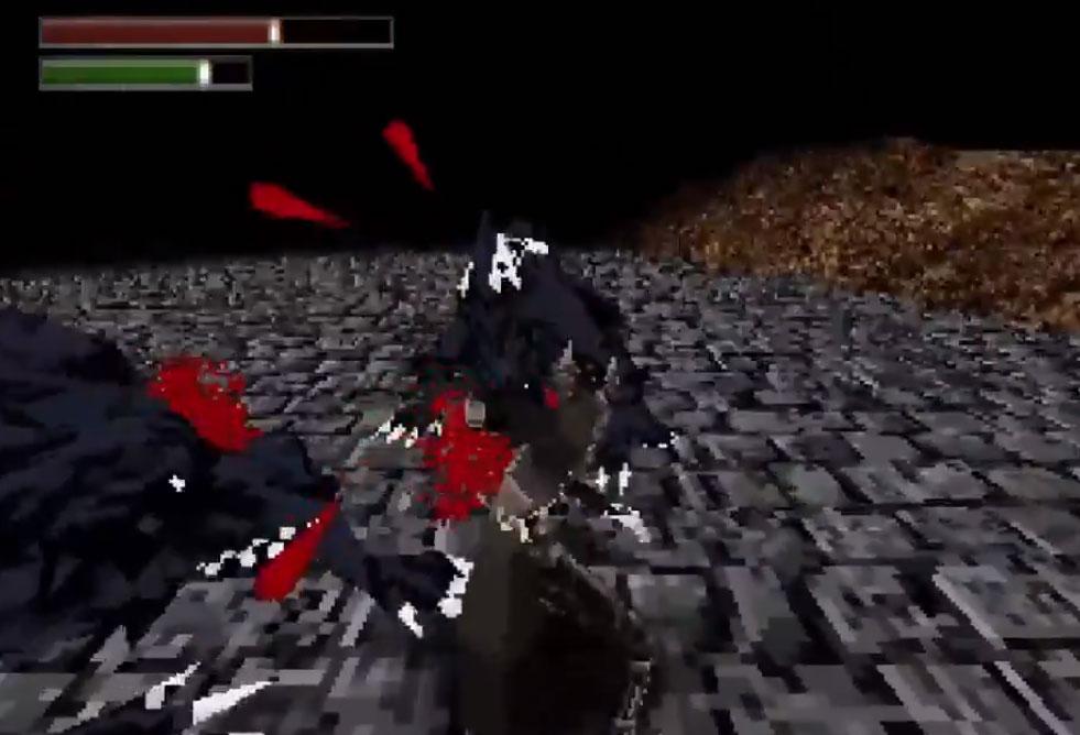 screenshot du jeu bloodborn demake en développement