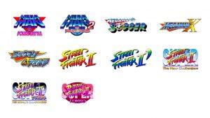 liste des jeux disponibles sur la console capcom retro station